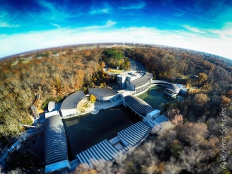 Aerial of Crystal Bridges